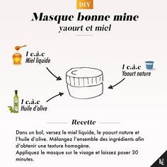 DIY : Masque bonne mine hacks for teens girl should know acne eyeliner for hair makeup skincare Beauty Care, Diy Beauty, Beauty Skin, Face Care, Body Care, Skin Care, Better Life, How To Look Better, Beauty Hacks For Teens