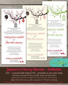 Japanese Cherry Blossom Lantern & Birdcage by TheFunkyOlive