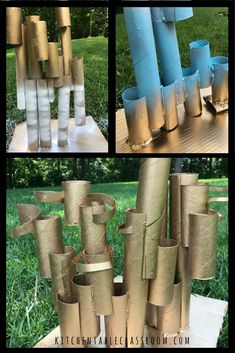 Free art experiences are hard to beat. Using toilet paper cardboard tubes to cre… Free art experiences are hard to beat. Using toilet paper cardboard tubes to create a recycled sculpture is a fun and easy way to learn about… Continue Reading → Cardboard Sculpture, Cardboard Art, Cardboard Tubes, Sculpture Lessons, Sculpture Projects, Recycled Art Projects, Cool Art Projects, Classroom Art Projects, Art Classroom