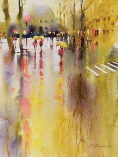 Watercolor rain #watercolor jd