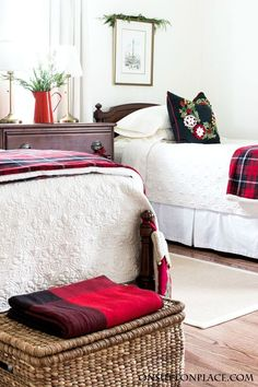 christmas guest room decor ideas