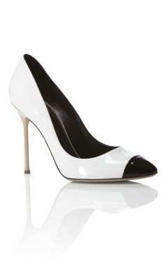1e33342ad2dda I never get tired of black n  white! Sergio Rossi Lady Jane Pump at
