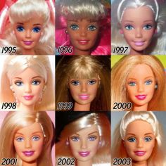 The Barbie doll was released in looking at the Barbie's that have been released since, it's quite clear that they have evolved a lot since. Here's what they look like throughout the years! Enjoy :) And let us know which Barbie was your favourite! Barbie Vintage, Barbie 80s, Barbie Movies, Barbie World, Barbie And Ken, Vintage Dolls, Barbie Games, Barbie Costume, Barbie Life