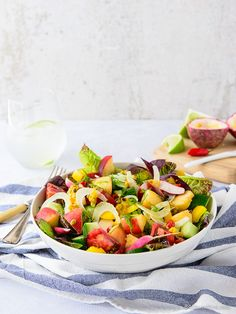 Summer Salad – Peppers, Peaches, Cucumber & Fennel with Passionfruit, Chilli & Lime Dressing
