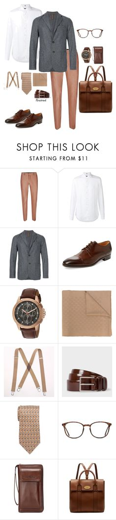 """""""Gents at work! Inspiring taste."""" by paraebrand ❤ liked on Polyvore featuring Topman, FAY, Eleventy, Saks Fifth Avenue, Michael Kors, Gucci, Levi's, Pierre Cardin, GlassesUSA and Mulberry"""