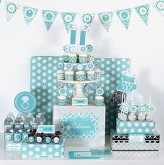 Something Borrowed, Something Blue, this Mod Party DecoratingKit is the answer for your bridal shower or engagement party