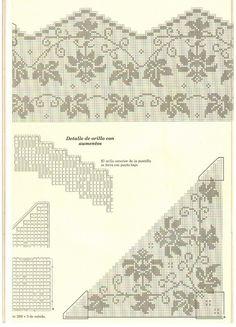 View album on Yandex. Free Crochet Doily Patterns, Filet Crochet Charts, Embroidery Patterns, Views Album, Cross Stitch, Yandex Disk, Wedding Hairstyles, Ornament, Corner