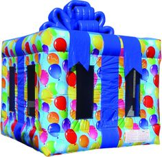 Gift Box Bounce, Gift Box Inflatable, Gift Box Jumper 800-873-8989  3...2..1...SURPRISE!!!! What a better way to put a smile on a child's face than to give them a HUGE Gift Box Bounce House? This Gift will not only leave your child speechless, it will bring bouncing joy to the party. Rent online at http://www.magicjumprentals.com/rentals/35_bounce-houses/632_gift-box