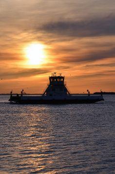 Port Aransas Ferry at Sunset