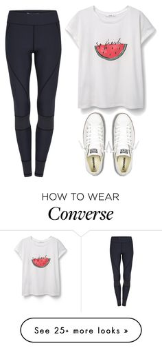 """So fresh"" by melw44 on Polyvore featuring MANGO and Converse"