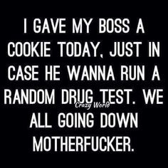 way to go down. way to go down. Work Memes, Work Quotes, Work Humor, Funny As Hell, Haha Funny, Funny Jokes, Funny Shit, Funny Stuff, Adult Humor Memes