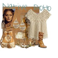 Native BoHo by suziqleathers on Polyvore featuring Calypso St. Barth, Steve Madden, Rebecca Minkoff, NAKAMOL and Panacea