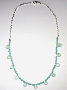 apatite and chalcedony necklace