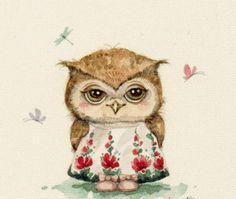 """La broderie de régime """"Owl"""" - Plans auteur «WhiteWinter» - Point de Croix"""