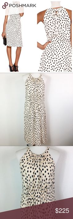 b1667cbe1d3b NWT Kate Spade ♤ leopard dot tie back dress NWT KATE SPADE ♤ viscose tie- neck sleeveless gathered crew neck & waist FIT fit & flare Size 14 ...