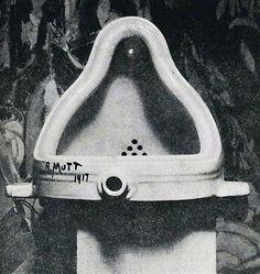 Fountain, Marcel Duchamp, Dada, Ready made. Photographed by Alfred Stieglitz Alfred Stieglitz, Kurt Schwitters, Tristan Tzara, Postmodern Art, Georges Pompidou, Art Nouveau, Art History, Surrealism, De Chirico