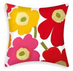Marimekko Pillow Cover  Pieni Unikko Multi by ModDiva on Etsy, $29.95