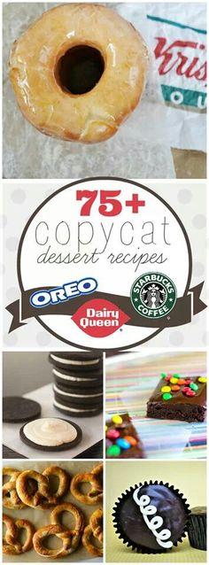 Copycat Dessert Recipes
