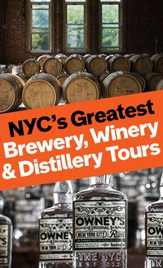 Take a tour of NYC's breweries, wineries, and distilleries.