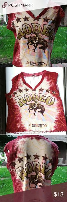 Best Of The West Rodeo Graphic Tee Shirt Rider On A Bucking Horse