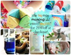 """The Alphabet Glue May moving sale! 25% off with the code """"may25"""" at checkout."""