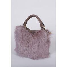 Deadly Ponies Mr Mini Fill N Zip - Grigio Fur ($540) ❤ liked on Polyvore