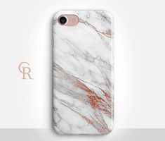Rose Gold Marble Phone Case For iPhone 8 iPhone 8 Plus