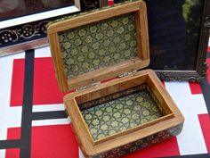 Jewelry Box Green Inlay Box Marquetry Box Middle by MaxsUniquities