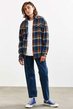 Cutoff Hem Levis Dark Stonewash 505 Slim Jean - Urban Outfitters