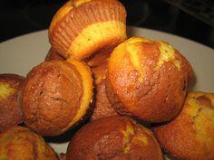 A veces cocino: Magdalenas de dos colores de chocolate y naranja