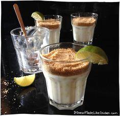 Lime Coconut Cream with Graham Cracker Crust - Vegan Custard