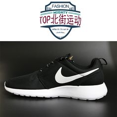 Nike Roshe Run Womens Black White Mesh shoes discount site!!Check it out!!Only $19