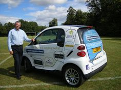 Smart Car Livery Design for Best of Epsom and Ewell with the concept that if a client leaves they just replace logos in the bubbles to keep costs down