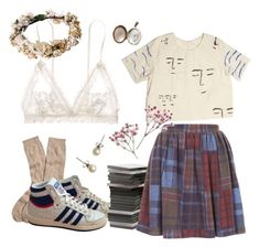 """""""bad girl on a good day"""" by hanna-gilligan ❤ liked on Polyvore featuring Hanky Panky, Brooks Brothers, adidas, J.Crew and Topshop"""