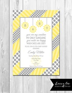 Free Customizable Baby Shower Invitations You Are My Sunshine | You Are My  Sunshine Baby Shower
