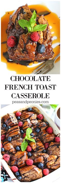 Factors You Need To Give Thought To When Selecting A Saucepan Chocolate French Toast Casserole Made With Challah Bread And Soaked In A Chocolate Mixture Overnight. This Is The Easiest And Most Delicious Breakfast You Can Make. Make Ahead Breakfast Casserole, French Toast Casserole, Delicious Breakfast Recipes, Brunch Recipes, Dessert Recipes, Chocolate French Toast, Southern Breakfast, Breakfast Ideas, Second Breakfast