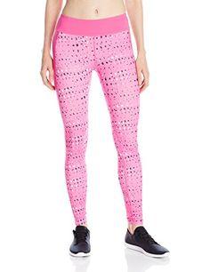 f2f86789d6 Under Armour Women's ColdGear Printed Leggings, Rebel Pink/White/Metallic  Silver Women's Leggings