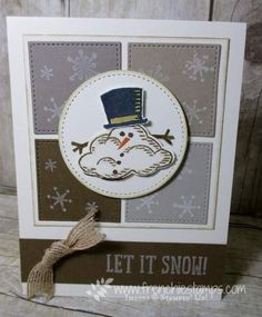 Stamp & Scrap with Frenchie: Melting Snowman Quilt- Patchwork Stitch Framelits, Snow Place, sprinkle of Life, Stampin'Up!