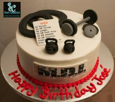 Crossfit theme birthday cake