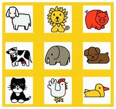 All of Miffy's animal friends