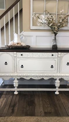 Painting Antique Furniture, Painted Bedroom Furniture, Refurbished Furniture, Farmhouse Furniture, Dining Room Furniture, Vintage Furniture, Distressing Painted Furniture, Chalk Painted Dressers, Antique White Bedroom Furniture