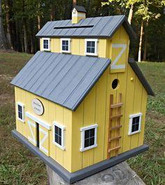 Rustic Birdhouse Barn Wedding Card holder Money by MVwoodworks, $175.00