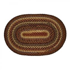 Homespice Decor Cotton Braided Biscotti Oval Rug - 401243