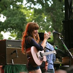 love my Jenny Jenny Lewis, Guitar Girl, Fancy Hairstyles, Be A Nice Human, Woman Crush, Celebrity Crush, Good Music, Role Models, Redheads