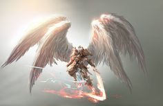 Angel concept art for Magic: The Gathering / Battle for Zendikar., Aleksi Briclot on ArtStation at https://www.artstation.com/artwork/vmxyY