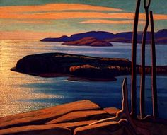 Afternoon Sun, Lake Superior - Lawren Harris, Canadian Group of Seven Emily Carr, Canada Landscape, Landscape Art, Landscape Paintings, Abstract Paintings, Group Of Seven Artists, Group Of Seven Paintings, Canadian Painters, Canadian Artists
