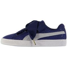 PUMA Puma Basket Heart Trainers ($85) ❤ liked on Polyvore featuring men's fashion, men's shoes, men's sneakers, mens lace up shoes, puma mens sneakers, puma mens shoes and mens woven shoes
