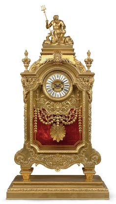 date unspecified A LARGE FRENCH ORMOLU MANTEL CLOCK BY BARBEDIENNE, PARIS, LATE 19TH CENTURY Price realised USD 40,000