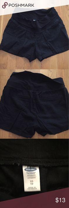 9f5cfbb0f4c72 Black maternity shorts Black linen maternity shorts with half panel or full  panel option. Old Navy Shorts