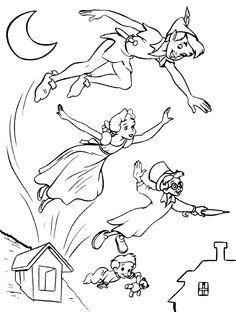 Dibujos para Colorear. Dibujos para Pintar. Dibujos para imprimir y colorear online. Peter Pan 1